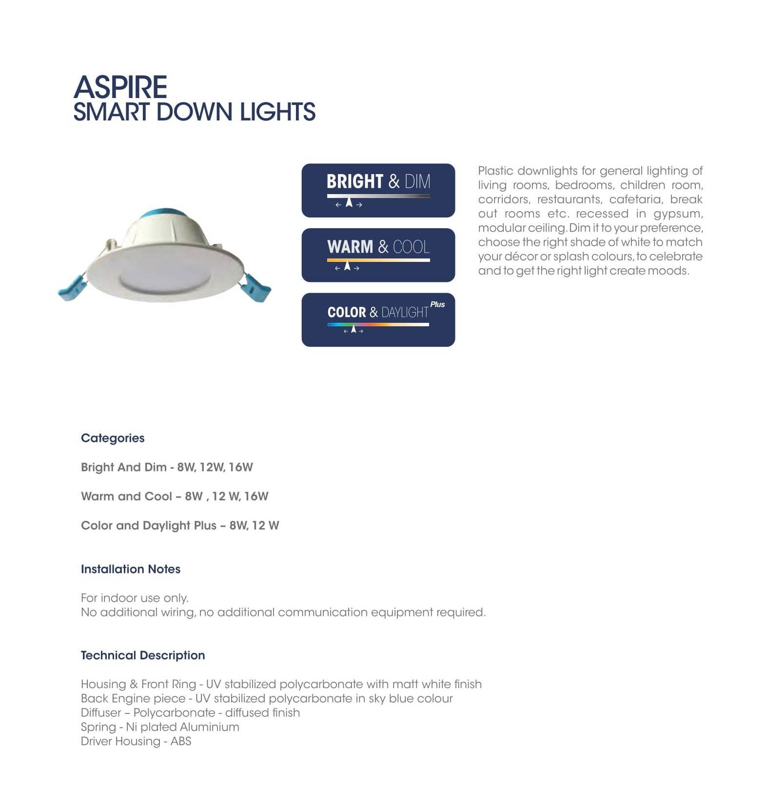 Aspire Smart Down Lights