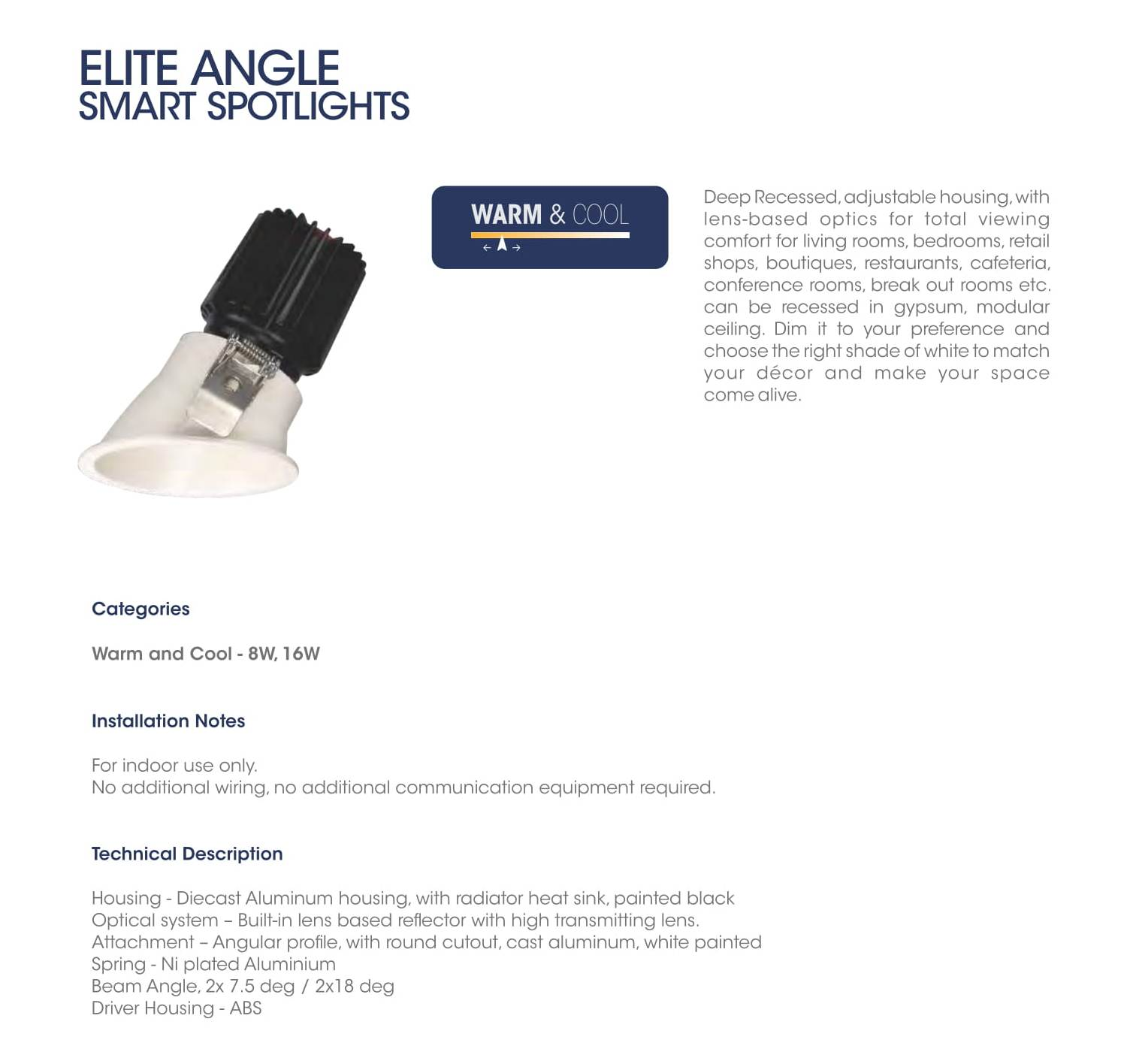 Elite Angle Smart Spotlights