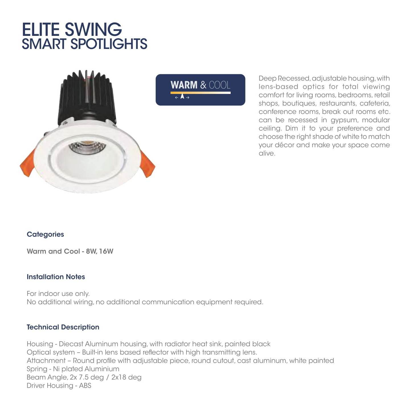 Elite Swing Smart Spotlights