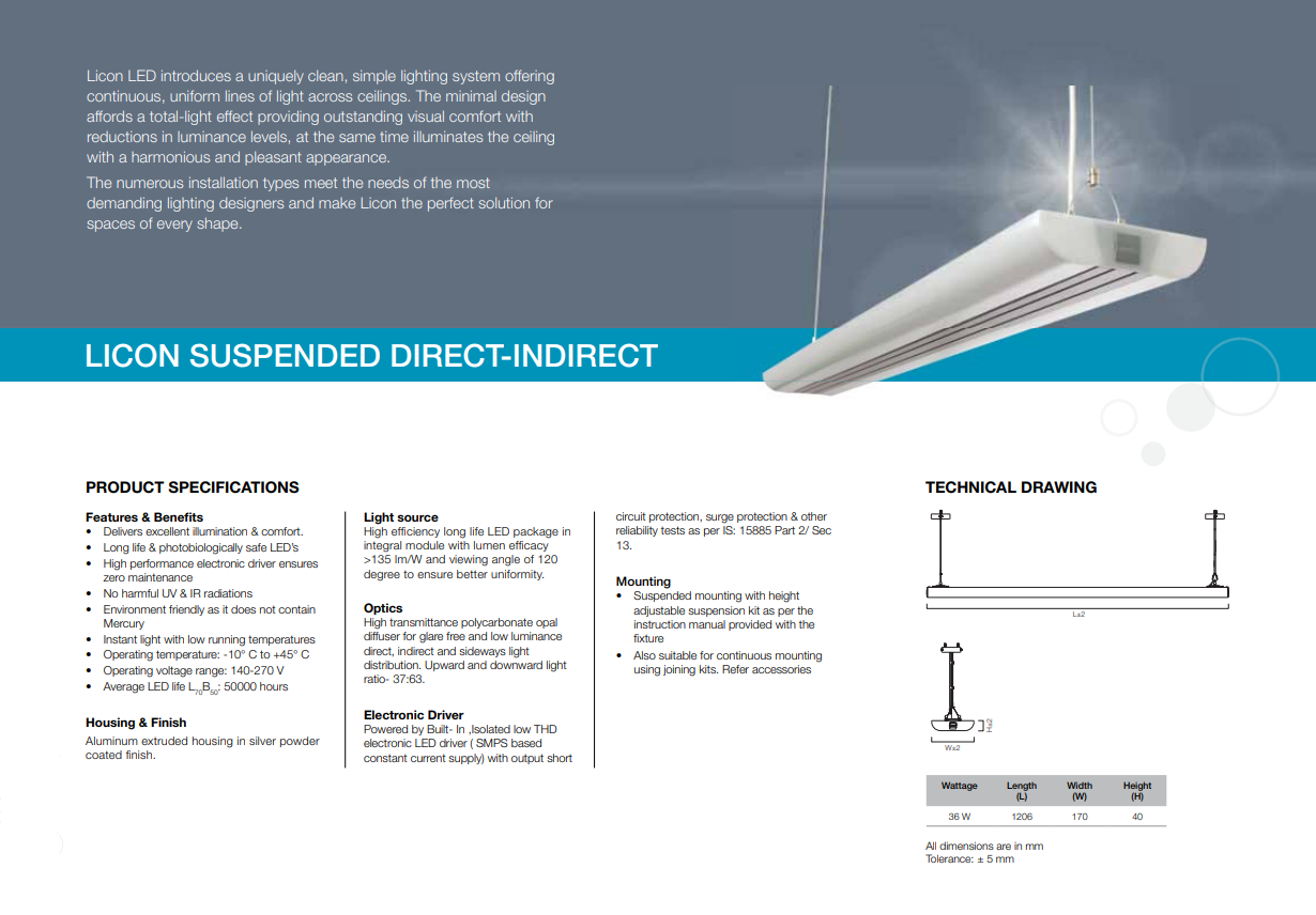 Licon Suspended Direct-Indirect