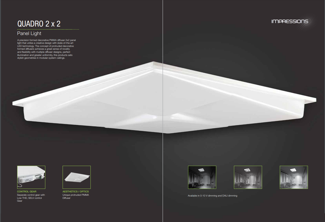 Panel Light Quadro 2 X 2