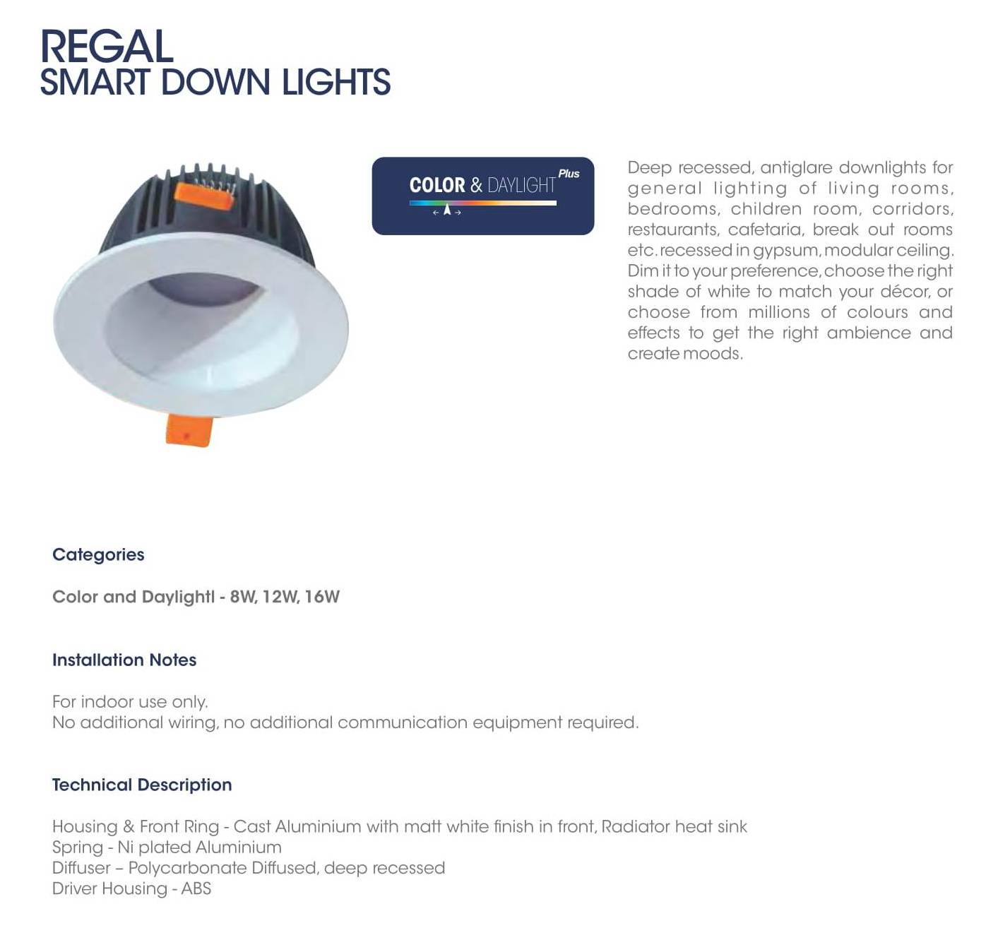 Regal Smart Down Lights
