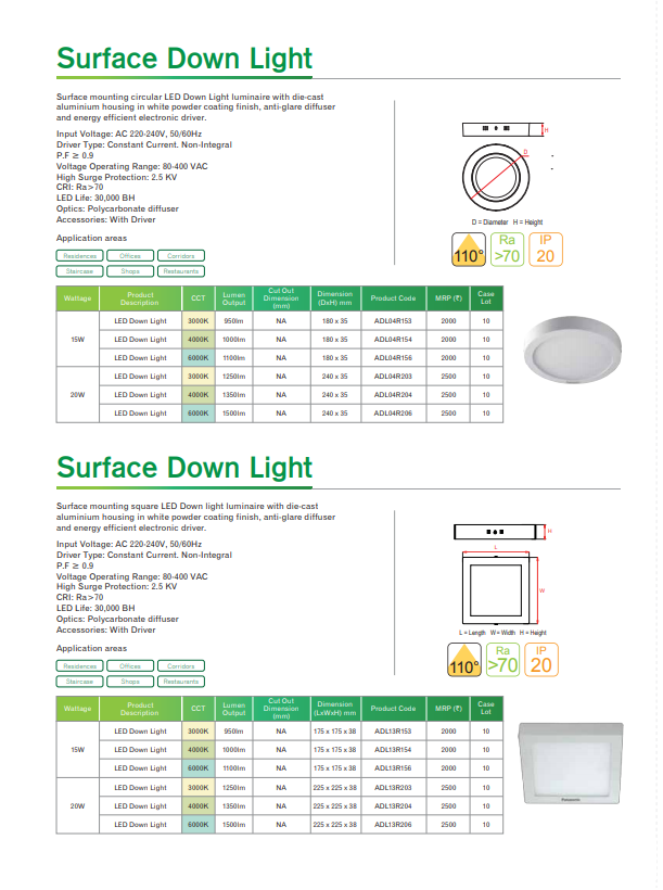 Surface Down Light
